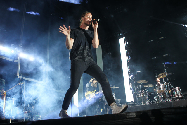 Dan Reynolds of Imagine Dragons performs during the Life is Beautiful festival in downtown Las Vegas on Saturday, Sept. 26, 2015. (Chase Stevens/Las Vegas Review-Journal) Follow @csstevensphoto