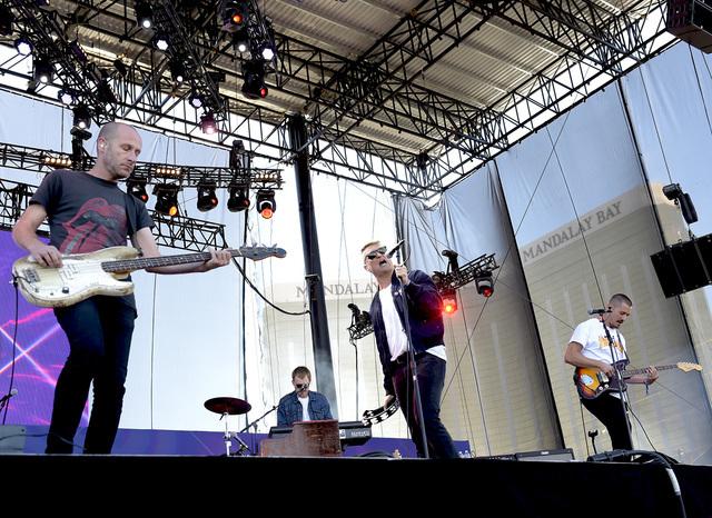 Cold War Kids onstage at the 2016 iHeartRadio Music Festival Daytime Village on Saturday, Sept. 24, 2016, at Las Vegas Village. (Glenn Pinkerton/Las Vegas News Bureau)