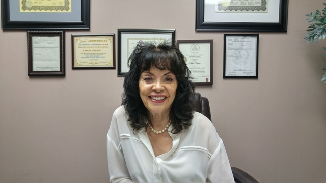Hypnotherapist Juanita Curiel sits in her office, Clinical Hypnotherapy of Las Vegas, 4045 Spencer St., Suite B22A, Aug. 22. Curiel has been practicing hypnotherapy for more than 20 years. Rocio H ...