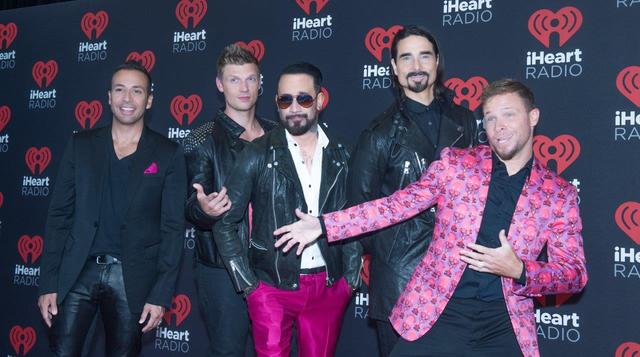 The Backstreet Boys arrive at Night 2 of the 2016 iHeartRadio Music Festival at T-Mobile Arena on Saturday, Sept. 24, 2016, in Las Vegas. (Tom Donoghue)