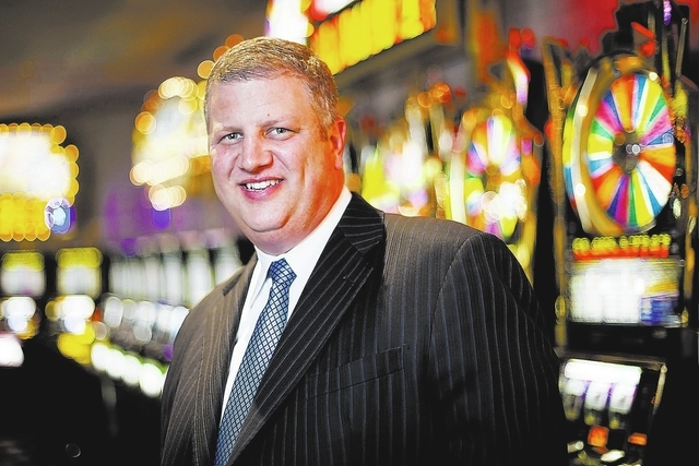 Derek Stevens, majority owner of The D Las Vegas and the Golden Gate, is seen near the vintage games at The D Las Vegas on Monday, May 13, 2013.  (Jessica Ebelhar/Las Vegas Review-Journal)
