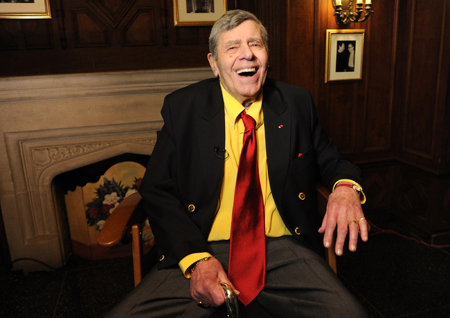 In this April 8, 2016 file photo, entertainer Jerry Lewis poses for a portrait at the Friars Club before his 90th birthday celebration in New York. (Photo by Brad Barket/Invision/AP, File)