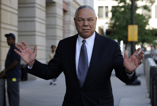 Former Secretary of State Colin Powell is seen in Washington in a file photo from 2008. (Susan Walsh/AP)