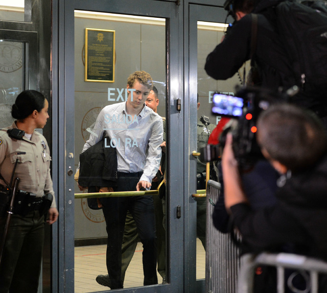 Convicted rapist Brock Turner leaves the Santa Clara County Main Jail in San Jose, Calif., Sept. 2. Turner, whose six-month sentence for sexually assaulting an unconscious woman at Stanford Univer ...