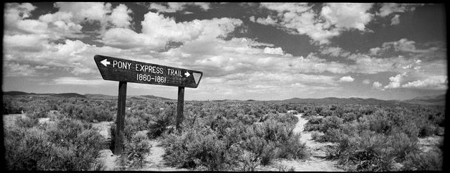 """This image of a sagebrush junction on the historic Pony Express Trail by famed photographer Deon Reynolds is part of the """"Home Means Nevada"""" exhibit now on display at the Senate Russell Building o ..."""
