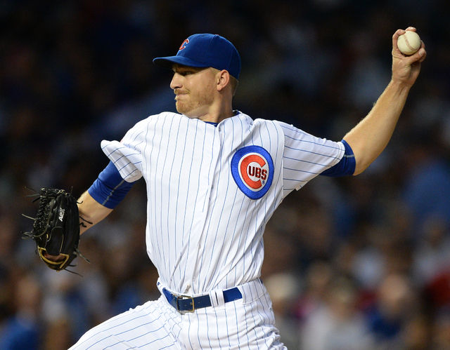 Chicago Cubs starter Mike Montgomery delivers a pitch during the first inning of a baseball game against the Milwaukee Brewers on Thursday, Sept. 15, 2016, in Chicago. (AP Photo/Paul Beaty)
