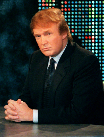 """n this Oct. 7, 1999 file photo, Donald Trump waits to be interviewed by talk show host Larry King during a taping of """"Larry King Live,"""" in New York. Trump said he has formed an exploratory committ ..."""