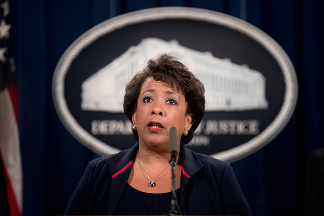 Attorney General Loretta Lynch speaks Sept. 22, 2016, at a news conference at the Justice Department in Washington. The number of murders reported by local law enforcement agencies jumped by more  ...