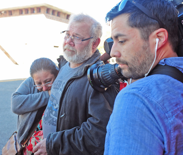 Arcan Cetin's stepfather David Marshall is swarmed by the media outside the Skagit County District Court on Monday, Sept. 26, 2016 moments after Cetin appeared in court under a magistrate's warran ...
