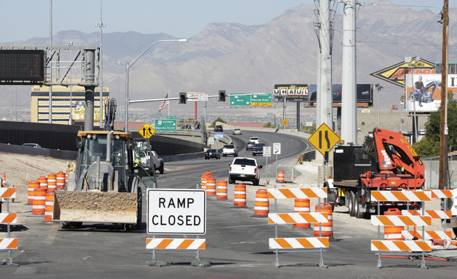 The onramp from the Martin Luther King Boulevard to northbound U.S. Highway 95 is closed on Tuesday, Sep. 6, 2016. The onramp will be closed for the next two months beginning today. Bizuayehu Tesf ...