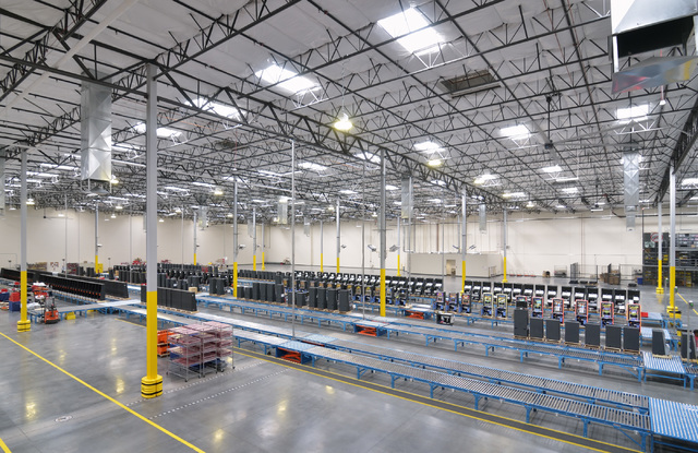 Part of the manufacturing and warehouse space is shown in the new headquarters of Ainsworth Game Technology at 5800 Rafael Rivera Way in Las Vegas on Friday, Sept. 30, 2016. Bill Hughes/Las Vegas  ...