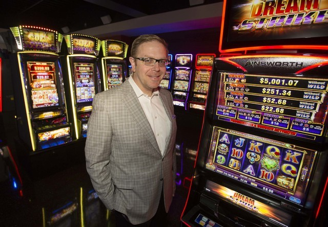 Ainsworth President of North America Mike Dreitzer poses in the Ainsworth slot machine showroom located at 5800 Rafael Rivera Way in west Las Vegas on Friday, Sept. 23, 2016. Richard Brian/Las Veg ...