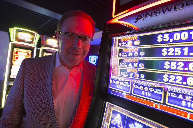 Ainsworth President of North America Mike Dreitzer poses in the Ainsworth slot machine showroom located at 5800 Rafael Rivera Way in Las Vegas on Friday, Sept. 23, 2016. Richard Brian/Las Vegas Re ...