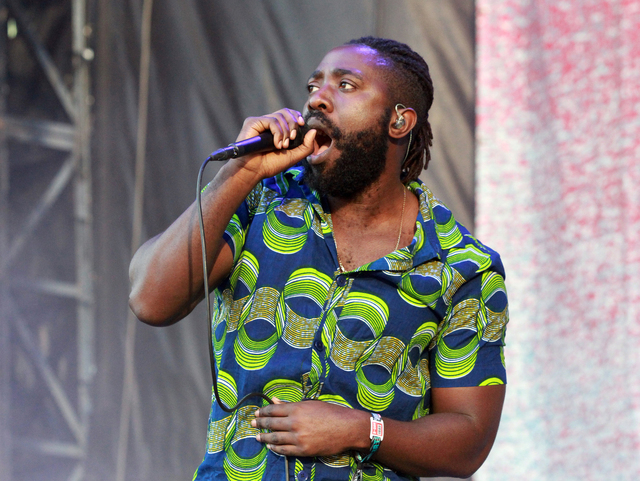 Kele Okereke with Bloc Party performs during the 2016 Shaky Knees Festival at Centennial Olympic Park on Friday, May 13, 2016, in Atlanta. (Photo by Robb D. Cohen/Invision/AP)