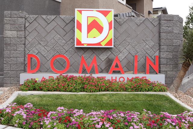 Domain apartment complex is shown Tuesday, Sept. 20, 2016, at 831 Coronado Center Drive in Henderson. (Bizuayehu Tesfaye/Las Vegas Review-Journal Follow @bizutesfaye)
