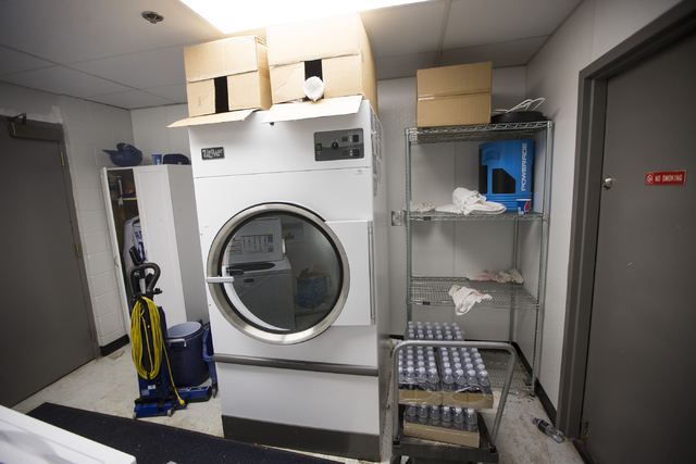 The Las Vegas 51s laundry room is seen before the start of the last home game of the season at Cashman Field on Saturday, Aug. 27, 2016, in Las Vegas. (Erik Verduzco/Las Vegas Review-Journal) Foll ...