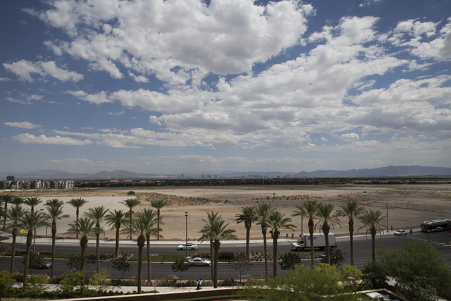 A proposed stadium site for the Las Vegas 51s near South Pavilion Center Drive and Griffith Peak Drive is seen on Wednesday, Aug. 31, 2016, in Las Vegas. It will be the first forum featuring the t ...