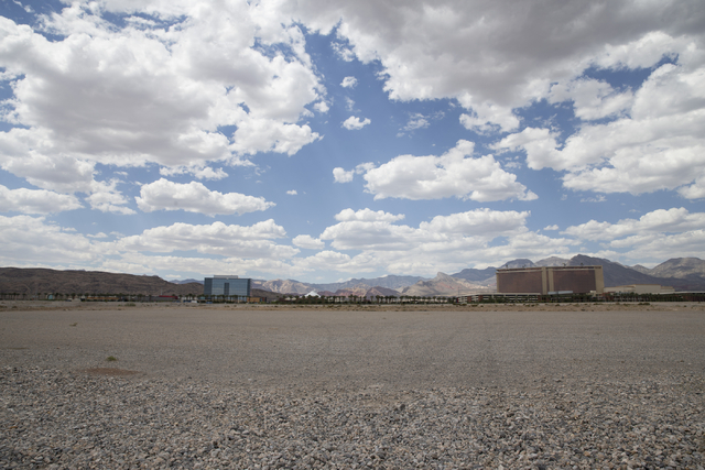 A proposed stadium site for the Las Vegas 51s near South Town Center Drive and Griffith Peak Drive is seen on Wednesday, Aug. 31, 2016, in Las Vegas. (Erik Verduzco/Las Vegas Review-Journal) Follo ...