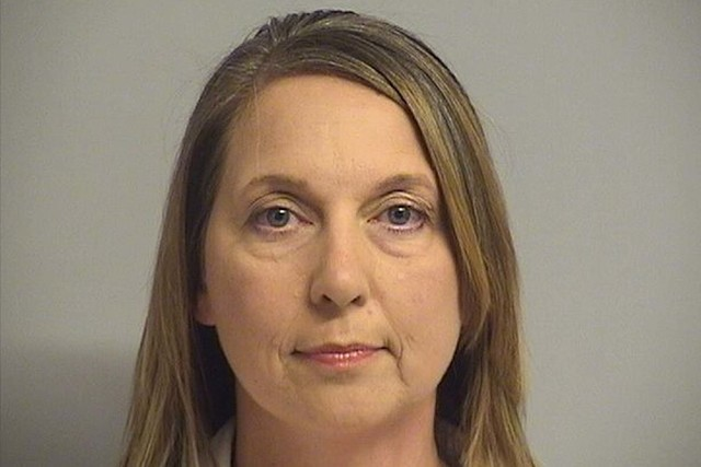 Tulsa police officer Betty Shelby turned herself in early Friday, Sept. 23, 2016, hours after prosecutors charged her with first-degree manslaughter in the death of Terence Crutcher. (Tulsa County ...