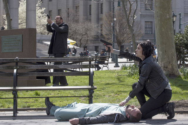 "BLINDSPOT -- ""If Love A Rebel, Death Will Render"" Episode 122 --  Pictured: (l-r) Sullivan Stapleton as Kurt Weller, Jaime Alexander as Jane Doe -- (Photo by: Barbara Nitke/NBC)"