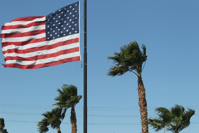 Wind in Las Vegas. (Brett Le Blanc/Las Vegas Review-Journal Follow @bleblancphoto)