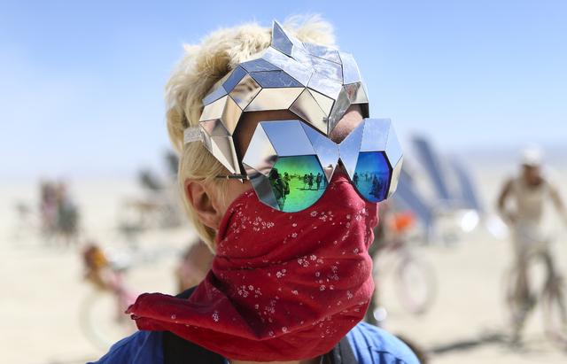 Vita Kamliuk of Russia poses for a photo during Burning Man at the Black Rock Desert north of Reno on Thursday, Sept. 1, 2016. Chase Stevens/Las Vegas Review-Journal Follow @csstevensphoto