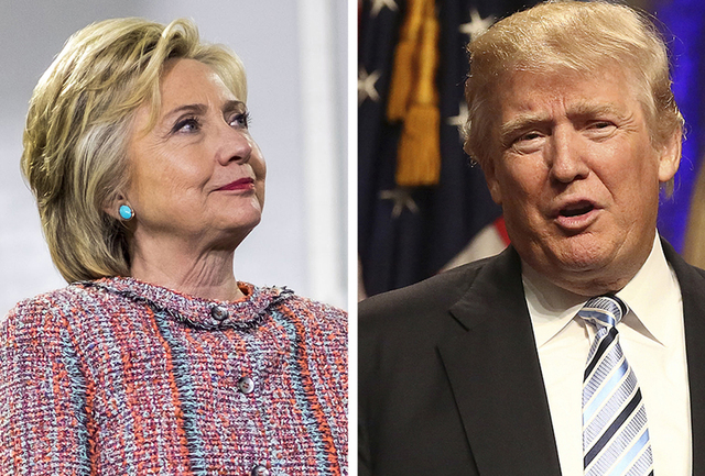 Hillary Clinton and Donald Trump will face off Monday night in the first presidential debate. (Melina Mara/Washington Post and Chris Goodney/Bloomberg)