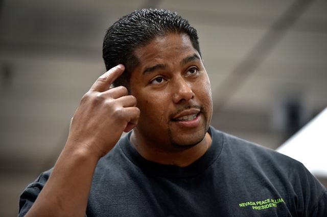 David Gomez speaks during a school board meeting at the Clark County School Board Thursday, Sept. 8, 2016, in Las Vegas. (David Becker/Las Vegas Review-Journal) Follow @davidjaybecker
