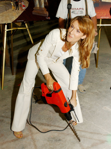Celine Dion at The Colosseum on May 22, 2002, at Caesars Palace in Las Vegas. (Courtesy)