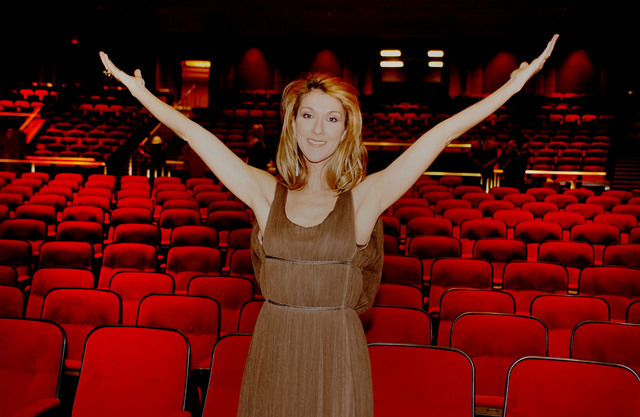 Celine Dion tours The Colosseum on Nov. 5, 2005, at Caesars Palace in Las Vegas. (Courtesy)