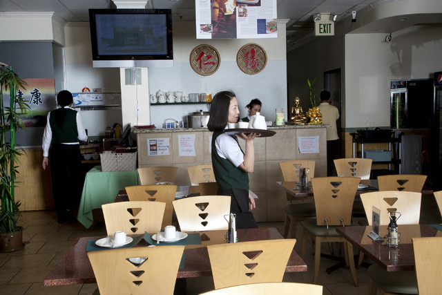 An interior view of the Veggie House restaurant located at 5115 Spring Mountain Road, in Las Vegas on Friday, Sept. 16, 2016. Jeferson Applegate/Las Vegas Review-Journal