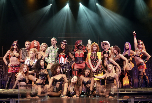 Cast members from Cherry Boom Boom are shown during a rehearsal at the Tropicana on Friday, Sept. 2, 2016. (Bill Hughes/Las Vegas Review-Journal)