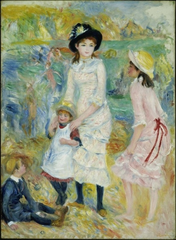 "Charming ""Children at the Seashore, Guernsey,"" painted about 1883 by Pierre-August Renoir, show the ""Country"" side of ""Town and Country"" at Bellagio's Gallery of Fine Art. COURTESY BELLAGIO GALLER ..."