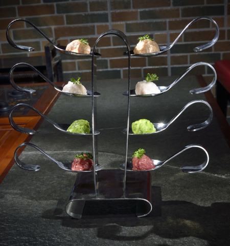 The Combination of House Special Balls featuring fish, chicken, shrimp, beef and spinach with codfish is shown at the Chubby Cattle restaurant at 3400 S. Jones Blvd. in Las Vegas on Thursday, Sept ...