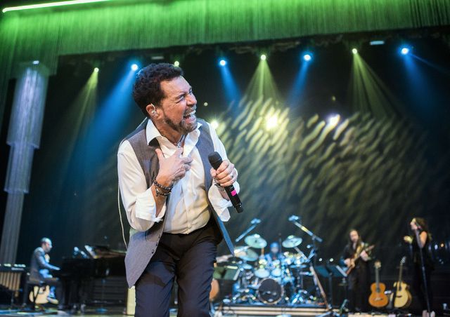 Entertainer Clint Holmes performs while rehearsing at The Palazzo Theater on Monday, July 11, 2016, in Las Vegas. (Jeff Scheid/Las Vegas Review-Journal)