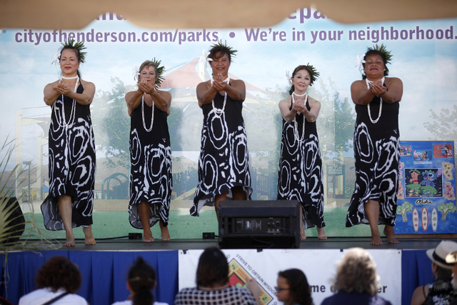 Members of the group Huiomokihana perform at the Ho'olaule'a Pacific Islands Festival on Sunday, Sept. 11, 2016, at the Henderson Events Plaza in Henderson. Rachel Aston/Las Vegas Review-Journal F ...