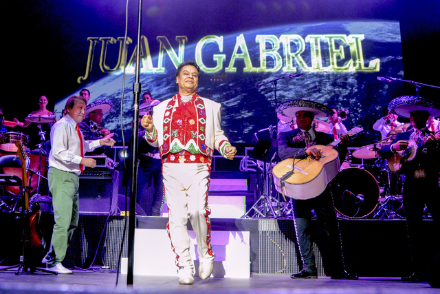 Mexican music icon Juan Gabriel takes the stage on his Volver 2014 tour in The AXIS Powered by Monster at Planet Hollywood Resort & Casino during Mexican Independence Day weekend in Las Vegas  ...