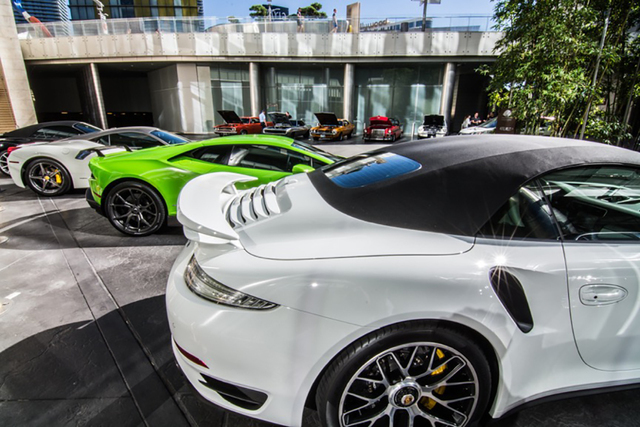 COURTESY Several residents at The Mandarin Oriental Las Vegas are exotic car enthusiastis.