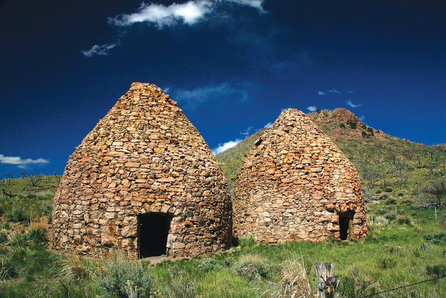 Beehive-shaped charcoal kilns, remnants from the mining boom years of the 1800s, still stand at two sites near Bristol Wells and Panaca Summit in Lincoln County. (Las Vegas Review-Journal file)