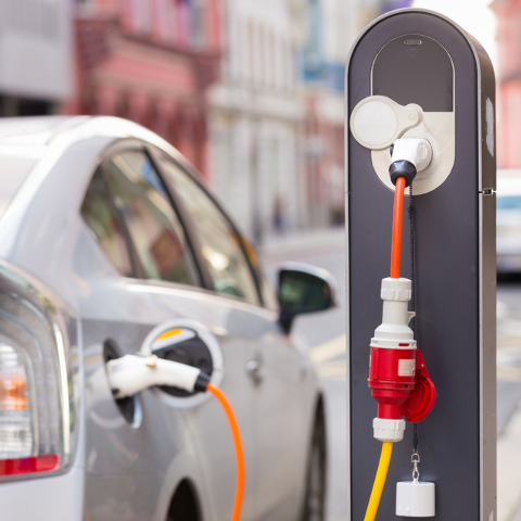 THINKSTOCK Electric car charging stations like this one are being seen more often these days, indicating the growing concern about the damaging effects of gasoline-powered vehicle emissions on our ...
