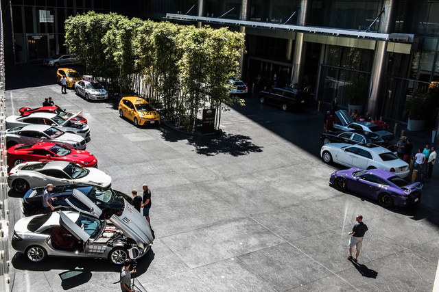 COURTESY The Mandarin Oriental Las Vegas at CityCenter residents show off their exotic cars.