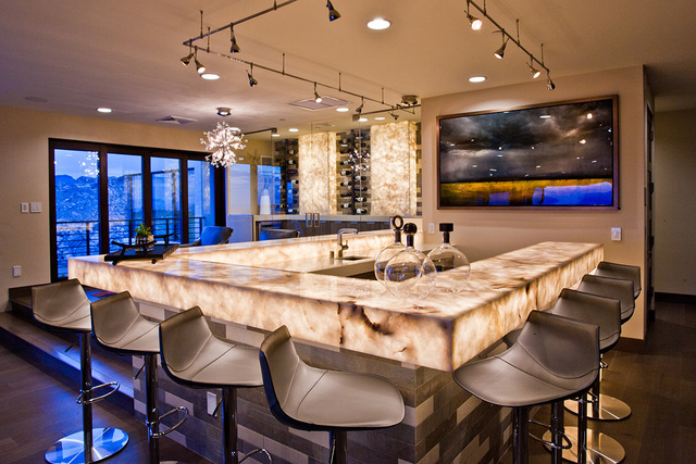 The second-story bar in the Blue Heron Sky Terrace home. (Blue Heron)