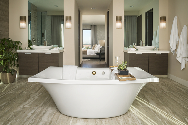 The bath in the Sky Terrace home. (Blue Heron)