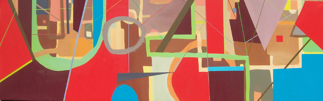 COURTESY This vibrant, colorful abstract painting by local artist Steven Spann brings a visual splash of excitement to any room.