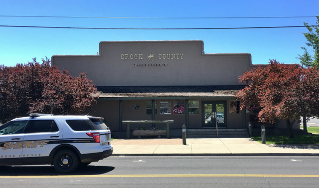 This July 1, 2016 photo shows the Crook County Sheriff's office in Prineville, Ore., a block away from the county jail. (Andrew Selsky/The Associated Press)