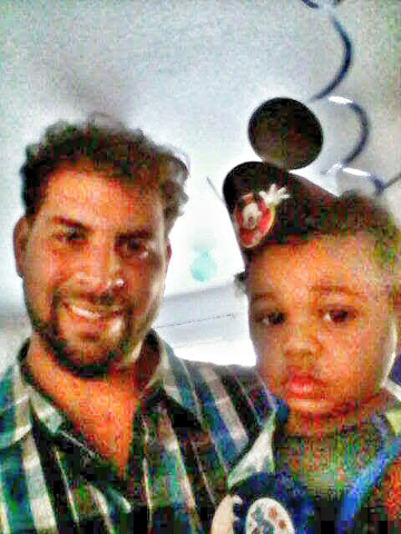Darryl White, 34, pictured with his son, Carter. (Rosalyn Smith)