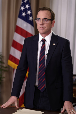 """DESIGNATED SURVIVOR - """"Pilot"""" - Kiefer Sutherland stars as Tom Kirkman, a lower-level cabinet member who is suddenly appointed President of the United States after a catastrophic ..."""