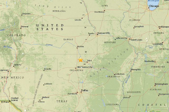center of the earthquake us geological service