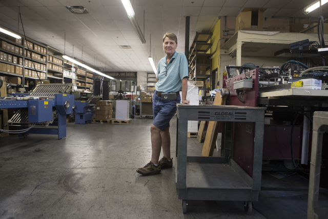 Kathy Gillespie, owner of A&B Printing and Mailing poses in the facility on Thursday, Sept. 22, 2016, in Las Vegas. Loren Townsley/Las Vegas Review-Journal Follow @lorentownsley