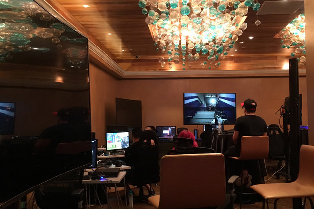 Gamers participate in e-sports at Downtown Grand in Las Vegas on July 3, 2016. (Ashley Casper/Las Vegas Review-Journal)